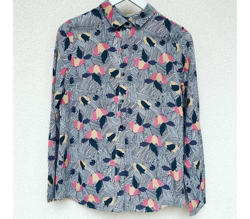 GREY FUNKY BLOUSE