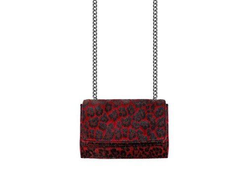 RED LEOPARD CHAIN BAG