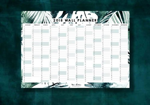 MYSTIC JUNGLE WALL PLANNER