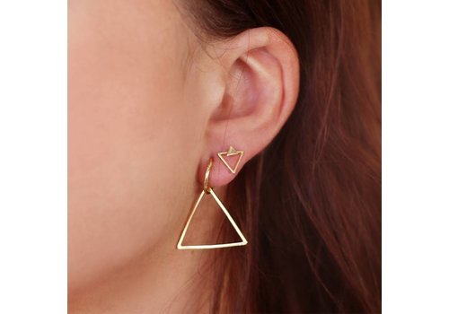 TRIANGLE EARRINGS - GOLD