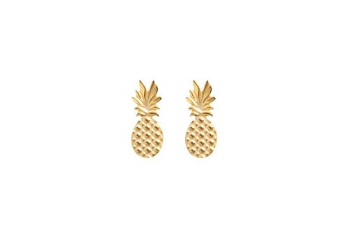 SWEET PINEAPPLE EARRINGS - GOLDEN
