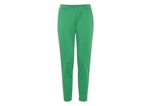 ICHI GREEN KATE ZIP PANTS