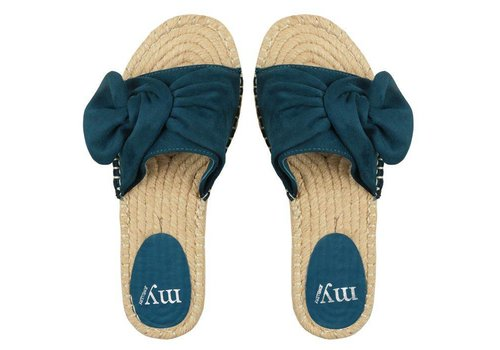 BOW SLIPPERS  - BLUE