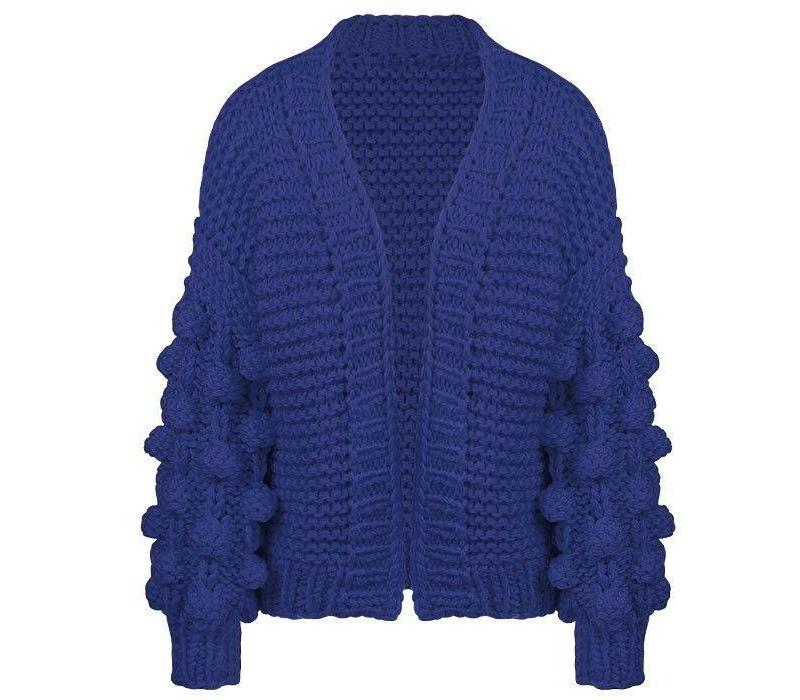 KNITTED CARDIGAN - BLUE