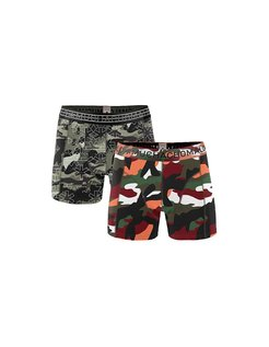 Boys 2-pack Short print army