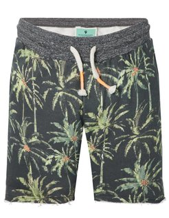 All-over Printed Sweatshort green