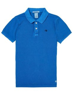 Garment Dyed Polo blue