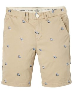 All-over Embroidery Chino Shorts  yellow