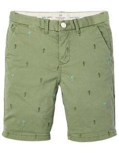 All-over Embroidery Chino Shorts