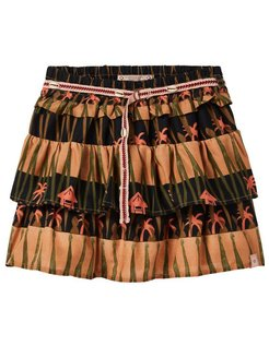 Ruffled Skirt print all-over brown
