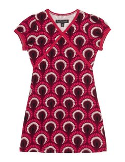 Cup Dress Peacock beaujolais red