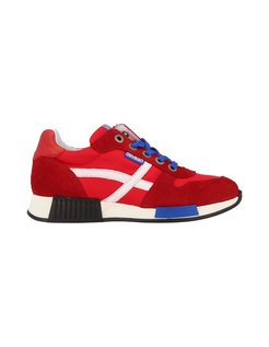 Boys Low Cut Sneakers Laces Rood Veters