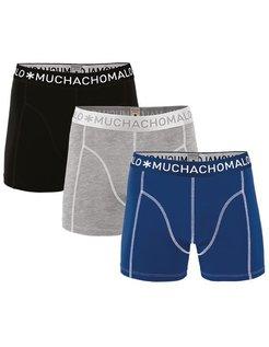 Boxershort Blue/Grey 3-pack 1010JSOLID187