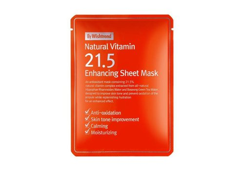 By Wishtrend Natural Vitamin 21.5 Enhancing Sheet Mask