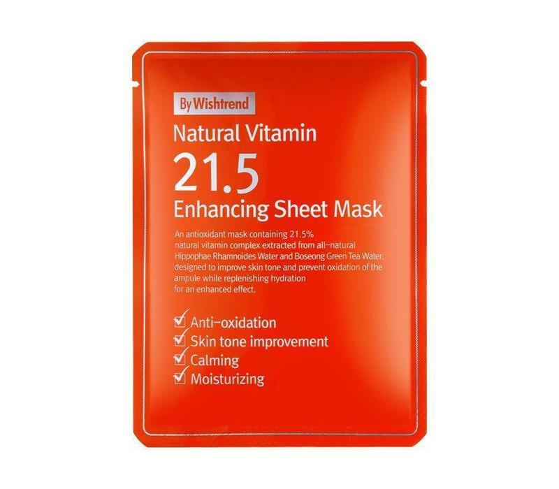 Natural Vitamin 21.5 Enhancing Sheet Mask - 23 g