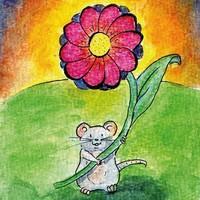Postcard Kleine muis