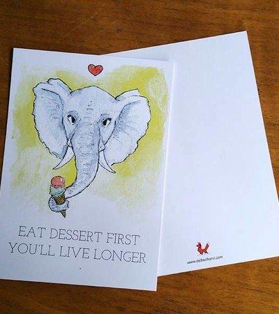 Postcard Olifant