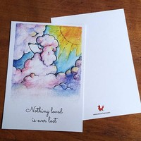 Postcard Poedel Wolk