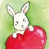 By STEL.EL Postcard Bunny