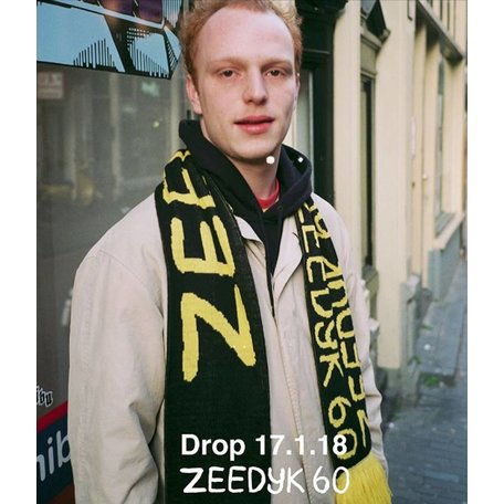 Zeedijk 60 Scarf | Black/Yellow