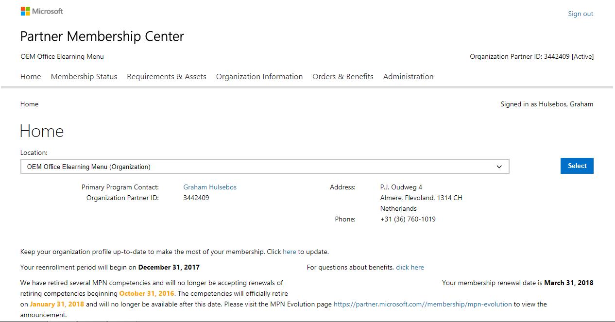 Microsoft partner oem office elearning menu microsoft partner xflitez Images