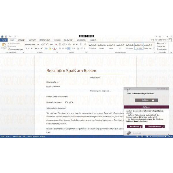 Elearning Word 2013 Kurs Online Anfänger, Fortgeschrittene und Profi