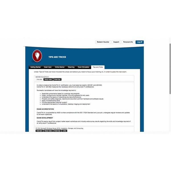 E-learning Kurs für Exam 220-901 CompTIA A+