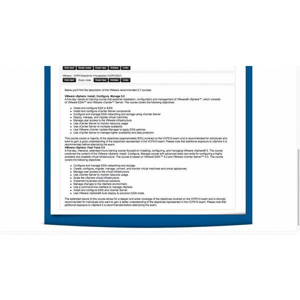 E-learning Kurs für Exam VMware-VCP5-Datacenter Virtualization (CP5-DCV)