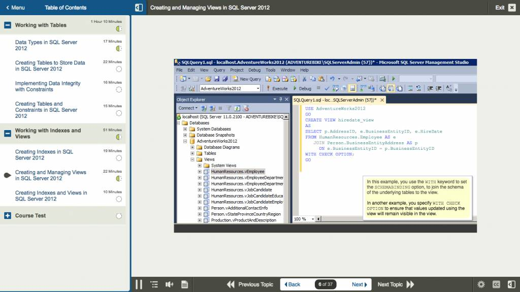 E Learning Kurs For Exam 70 461 Querying Microsoft Sql Server 2012