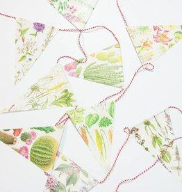 DatZitWelSnor Vlaggetjesslinger met bloemen
