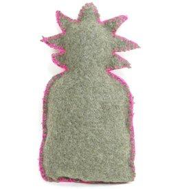 DatZitWelSnor Ananas kussen - groen grijs wol