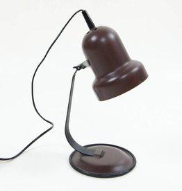 Woonmaterie Vintage bureaulampje bruin