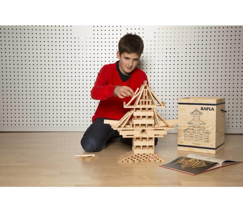 Bouwstenen Kapla in houten box (280st.)