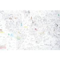 Reuze kleurposter atlas