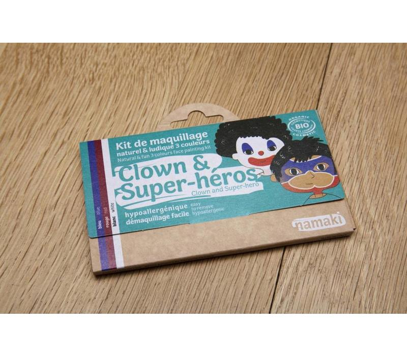 Clowns & superhelden in een handomdraai schminken!