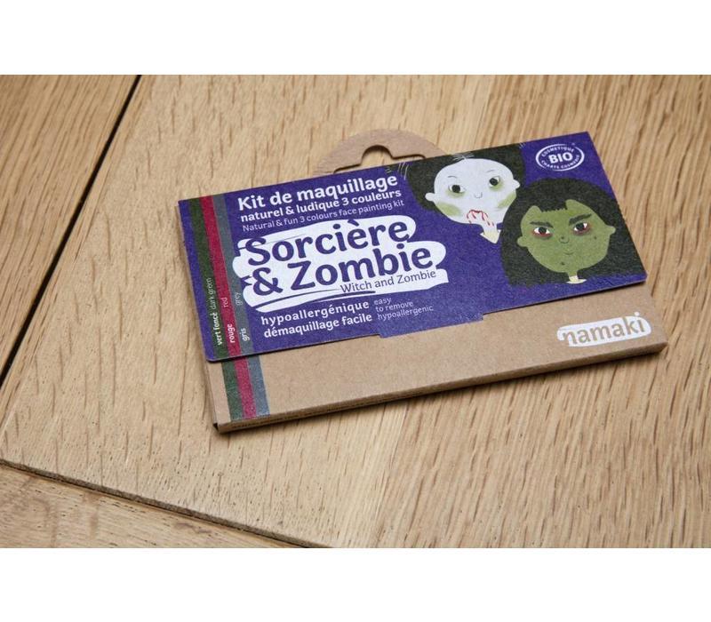 Bio-schminkset heks en zombie