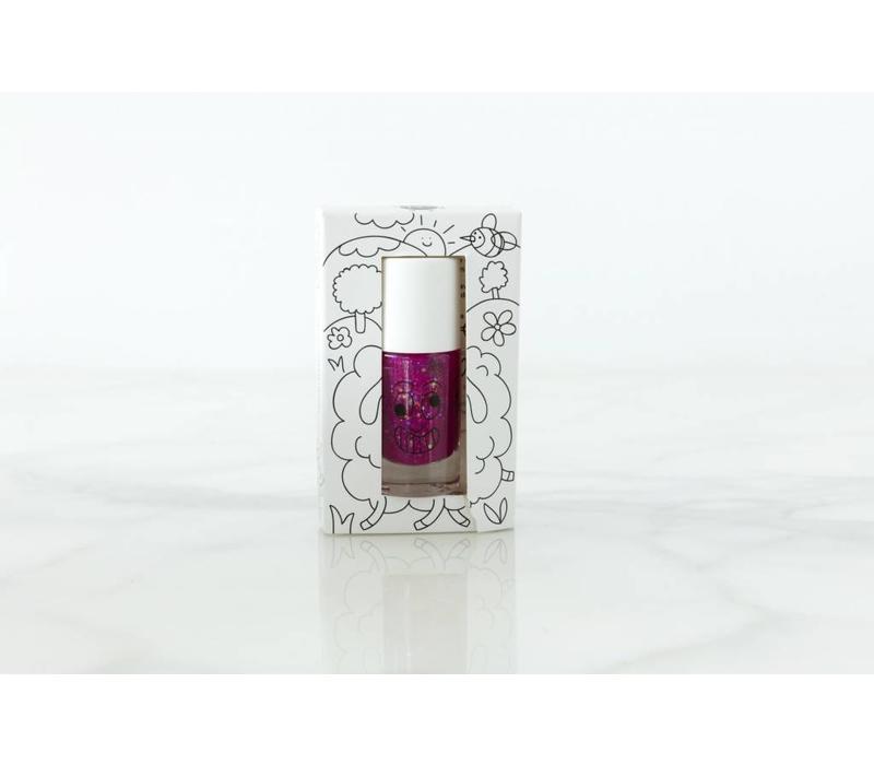 Nailmatic nagellak purper met glitters 'Piglou'