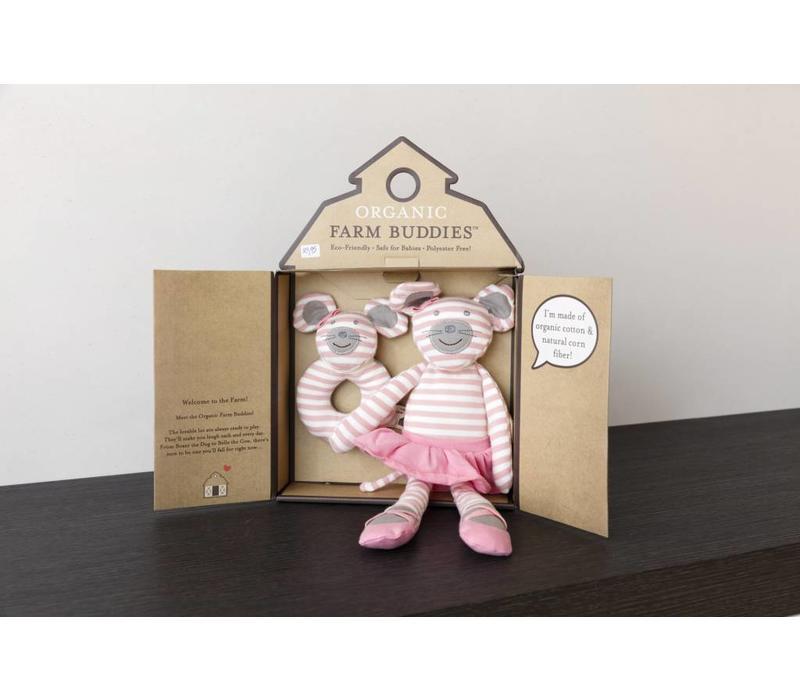 Organic Farm Buddies Ballerina Mouse cadeauset