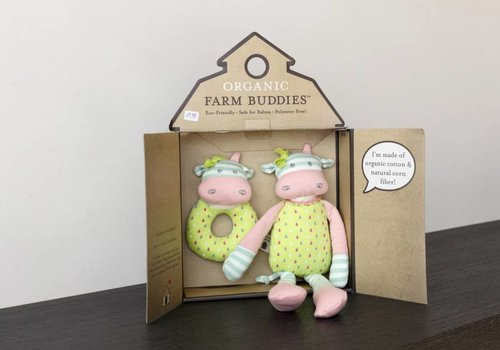 Organic Farm Buddies Knuffel-cadeauset 'Belle Cow'