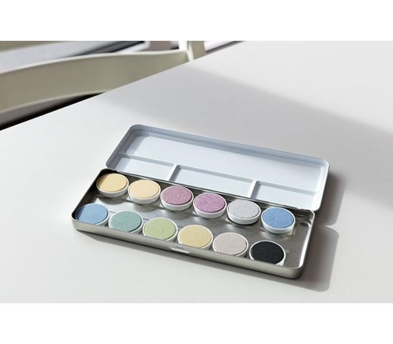 Ökonorm doos 12 kleuren waterverf
