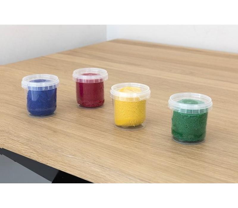 Ökonorm zachte kneedpasta set van 4 kleuren (rood, geel, groen, blauw)