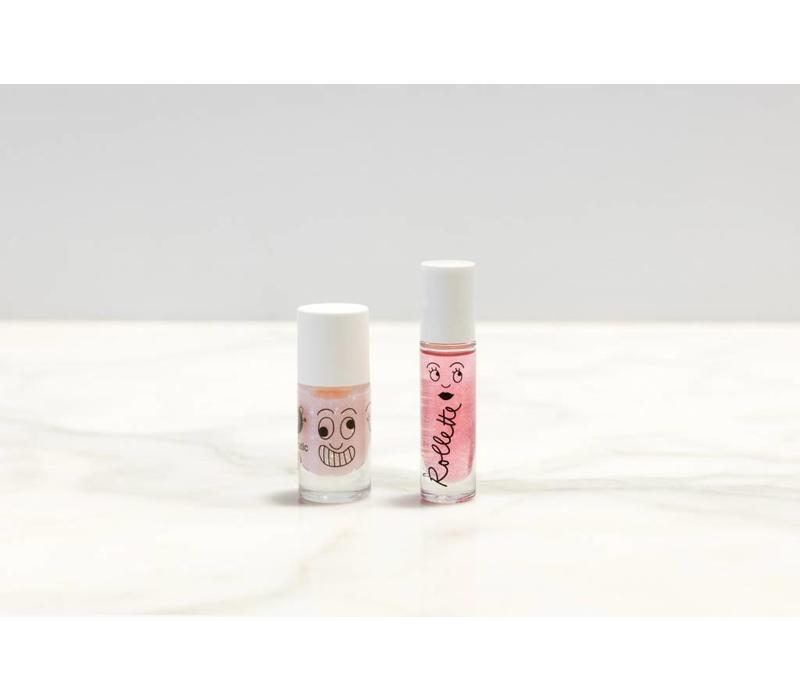 Sprookjesachtige nagellak en lipgloss in één set!