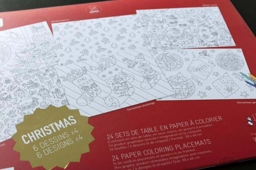 Omy Kleurplatenset Kerstmis Fairplace
