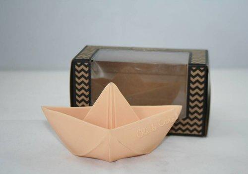 Oli & Carol Origamibootje natuurrubber nude pink
