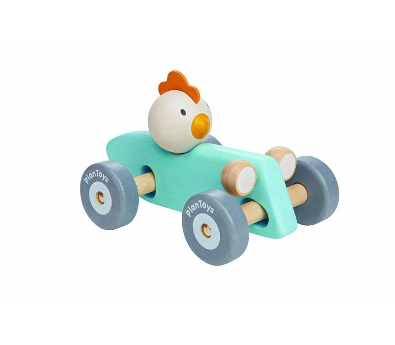 Racewagen kip (pastel)