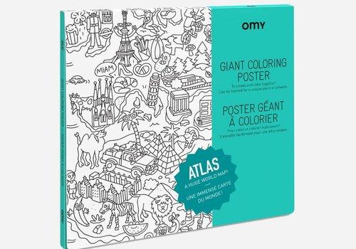 OMY Kleurposter Atlas
