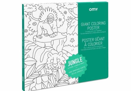 OMY Kleurposter Jungle