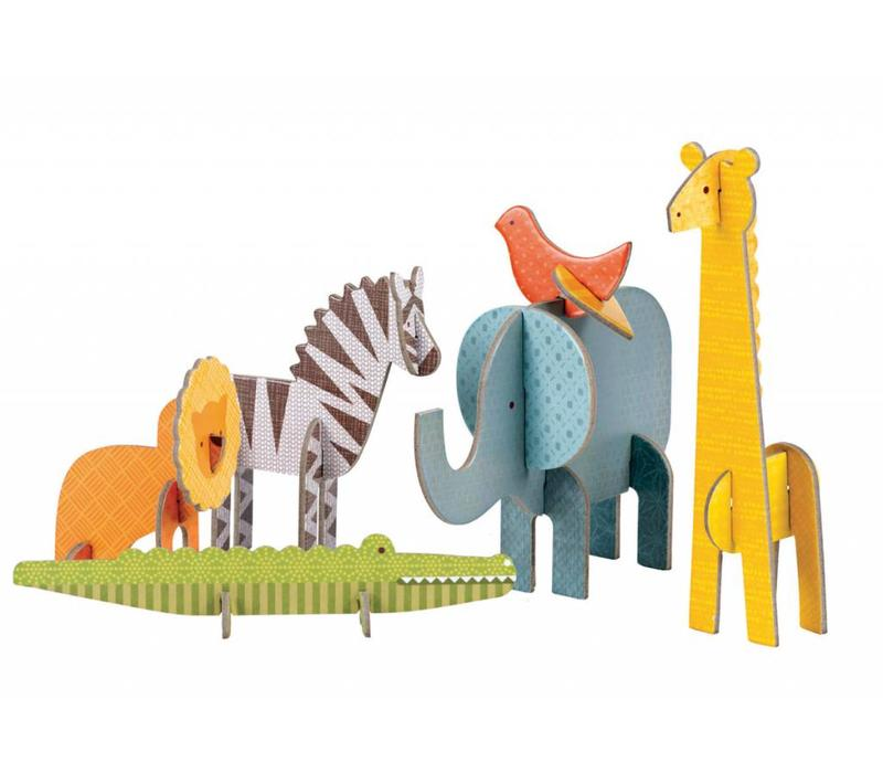3D Pop Out figuren Safari