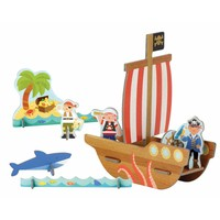 3D Pop Out figuren Piraten