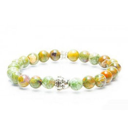Juwelen GEMINI BUDDHA 8MM GREEN SMALL
